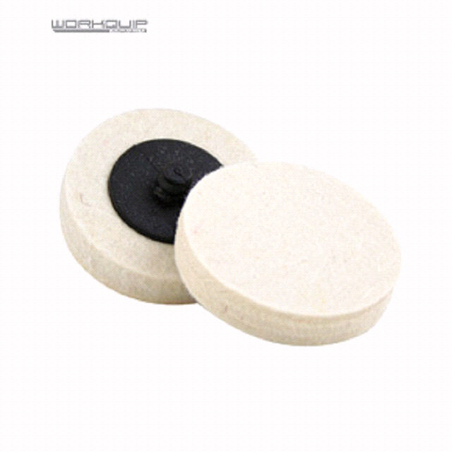 50MM TWIST LOCK WOOL WHEEL - PACKED (2) - Workquip