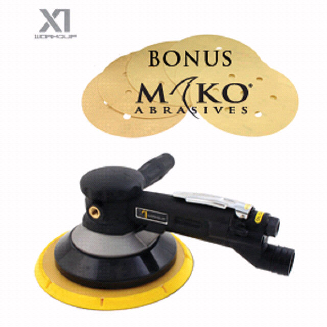 X1 200MM GEARED SANDER + BONUS MAKO - Workquip