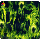 5 Mtr Hydrographic Film Water Transfer Hydro-Dipping Hydro Dip  Green Flame